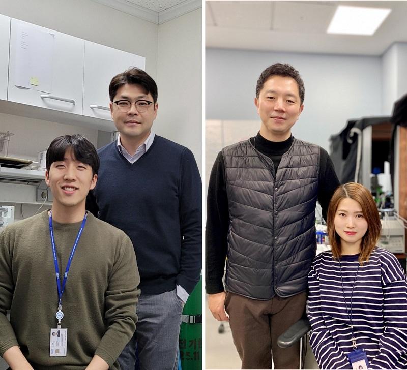 (왼쪽부터) KAIST 이준혁 박사과정, 정원석 교수, 한국뇌연구원 박형주 박사, 김지영 학생 [사진=KAIST]