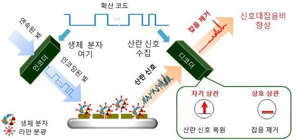 대역확산 라만분광 기술 개념도.[사진= KAIST]